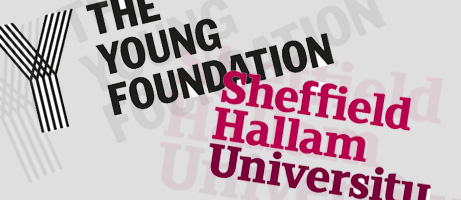 Logos For The Young Foundation and Sheffield Hallam University